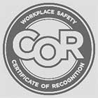 Workplace Safety Certificate of Recognition Badge